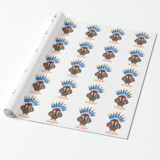 Papier Cadeau Cadeau de menorah de dinde de Thanksanukkah