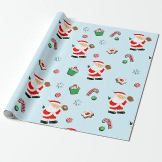 Papier Cadeau Cadeau de Noël de base-ball