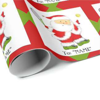 Papier Cadeau Cadeau de Noël de tennis