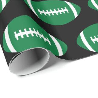 Papier Cadeau Cadeau vert de partie de joueur ou d'équipe de