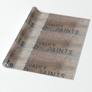 Papier Cadeau caisse de bois de construction de vieille école