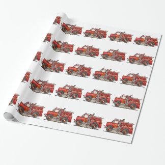Papier Cadeau Camion de délivrance d'ouvrier chargé des pompes