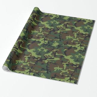 Papier Cadeau Camo vert militaire