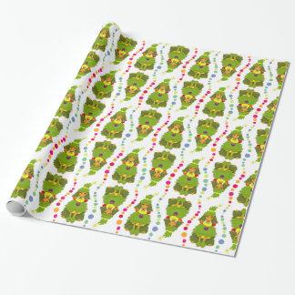 Papier Cadeau Caniche drôle d'arbre de Noël