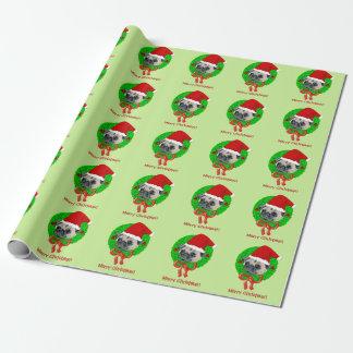 Papier Cadeau Carlin de Joyeux Noël