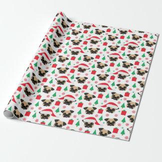 Papier Cadeau Carlin mignon de Noël