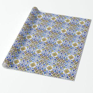 Papier Cadeau Carreaux de céramique d'Azulejos