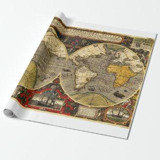 Papier Cadeau Carte antique #2 du monde