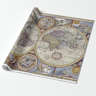 Papier Cadeau Carte antique #3 du monde