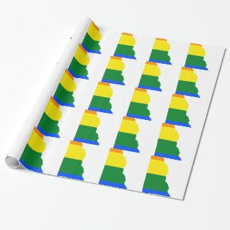 Papier Cadeau Carte de drapeau du Delaware LGBT