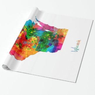 Papier Cadeau Carte du Wisconsin
