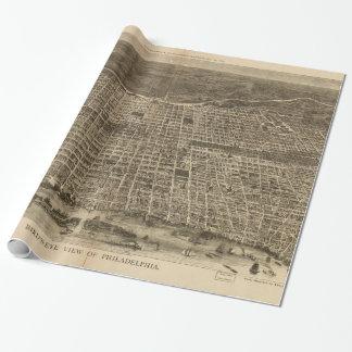 Papier Cadeau Carte imagée vintage de Philadelphie (1872)
