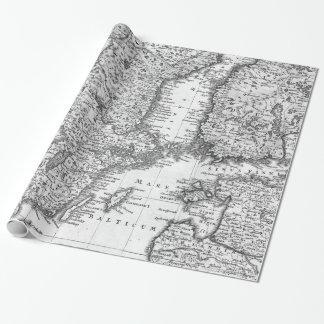 Papier Cadeau Carte noire et blanche d'enveloppe de cadeau de la