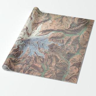Papier Cadeau Carte topographique vintage Washington du mont