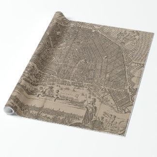 Papier Cadeau Carte vintage d'Amsterdam (1721)