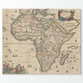 Papier Cadeau Carte vintage de l'Afrique (1689)