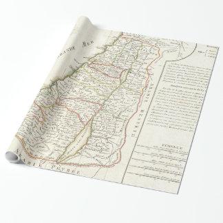 Papier Cadeau Carte vintage de l'Israël (1770)
