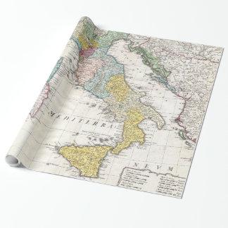 Papier Cadeau Carte vintage de l'Italie (1742)