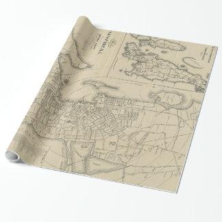 Papier Cadeau Carte vintage de Newport Île de Rhode (1901)