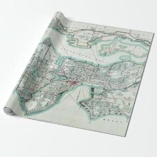 Papier Cadeau Carte vintage de Seattle Washington
