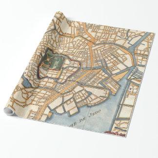 Papier Cadeau Carte vintage de Tokyo Japon (1752)