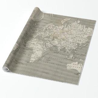 Papier Cadeau Carte vintage du monde (1820) 2