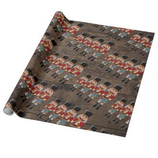 Papier Cadeau Casse-noix en bois rustique de Noël de pays