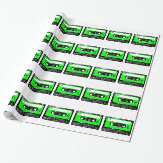 Papier Cadeau Cassette lumineuse d'étiquette de vert de chaux
