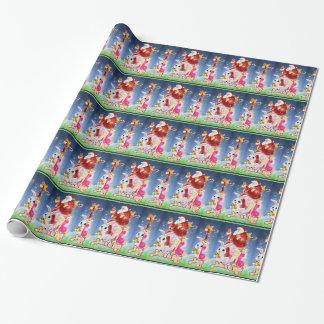 Papier Cadeau Célébrez le papier d'emballage de tuile magique