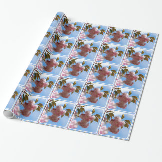 Papier Cadeau Cerisier fleurissant rose