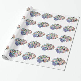 Papier Cadeau Cerveaux colorés