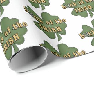 Papier Cadeau Chance de l'enveloppe irlandaise de partie de