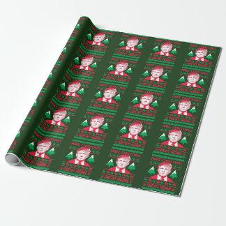 Papier Cadeau Chandail de Noël d'atout - faites à Noël grand Aga