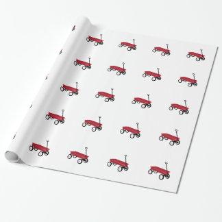 Papier Cadeau Chariot rouge