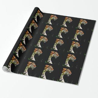 Papier Cadeau Chat dangereux de fourrure prédatrice de tigre