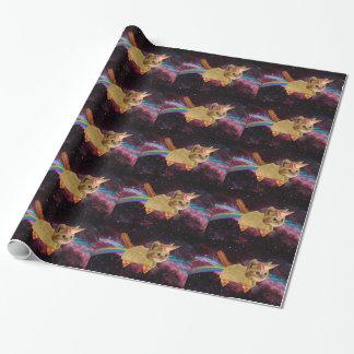 Papier Cadeau Chat de licorne - chat de taco - chat de l'espace