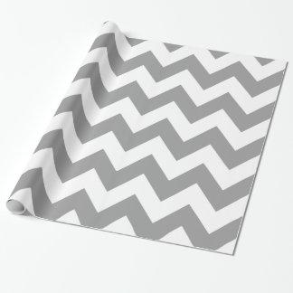 Papier Cadeau Chevron audacieux gris