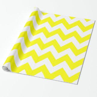 Papier Cadeau Chevron audacieux jaune