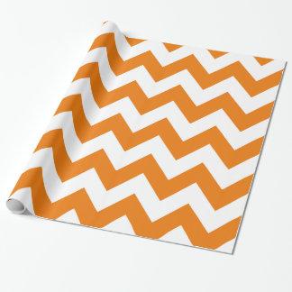 Papier Cadeau Chevron audacieux orange