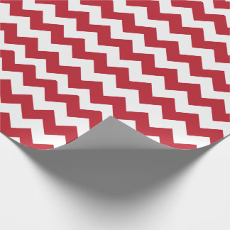 Papier Cadeau Chevron rouge et blanc de Joyeux Noël