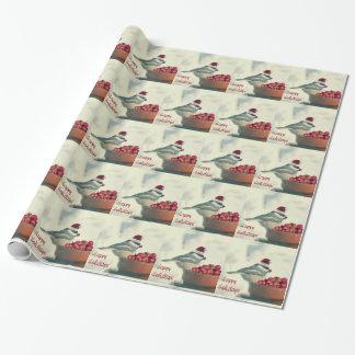 Papier Cadeau Chickadee adorable de vacances