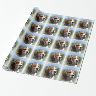 Papier Cadeau Chien adorable de beagle