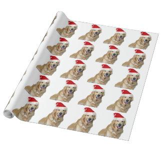 Papier Cadeau Chien-animal familier de Labrador Noël-père Noël