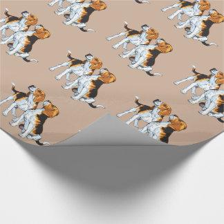 Papier Cadeau chien de beagle