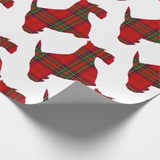 Papier Cadeau Chien de Scottie de plaid