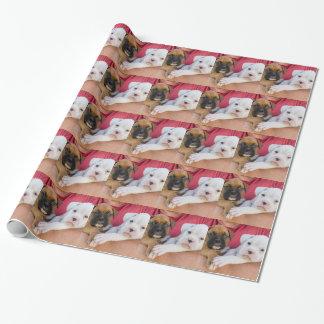 Papier Cadeau Chiots de boxeur