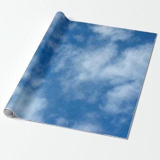 Papier Cadeau Ciel bleu avec le papier d'emballage de nuages