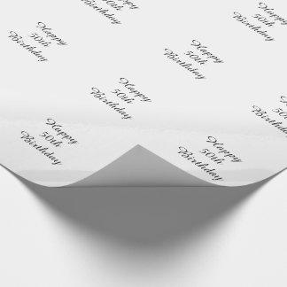 Papier Cadeau cinquantième Enveloppe d'anniversaire, noire et