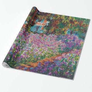 Papier Cadeau Claude Monet - iris en beaux-arts du jardin de