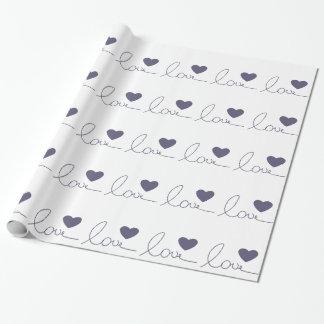 Papier Cadeau Coeur pourpre d'amour
